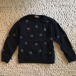 Zara black bejeweled sweatshirt